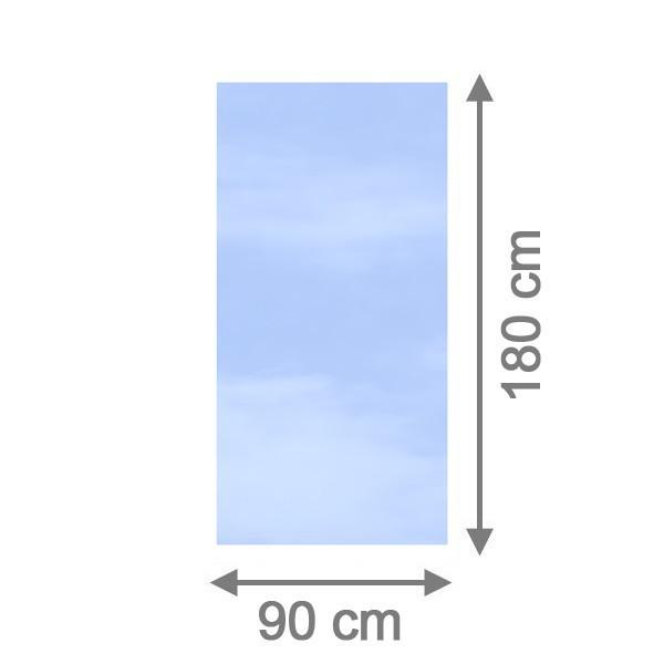 TraumGarten Sichtschutzzaun System Glas Klar Rechteck - 90 x 180 x 0,8 cm