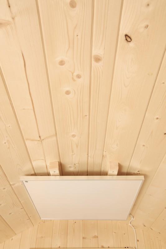 Wolff Finnhaus Holz Campingfass L: 393cm - 2-Raum - vormontiert - inkl. schwarze Dachschindeln