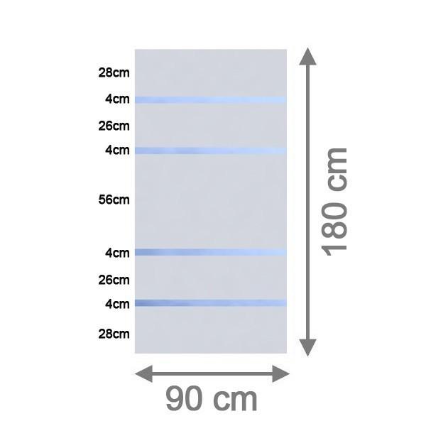TraumGarten Sichtschutzzaun System Glas Alpha Rechteck - 90 x 180 x 0,8 cm