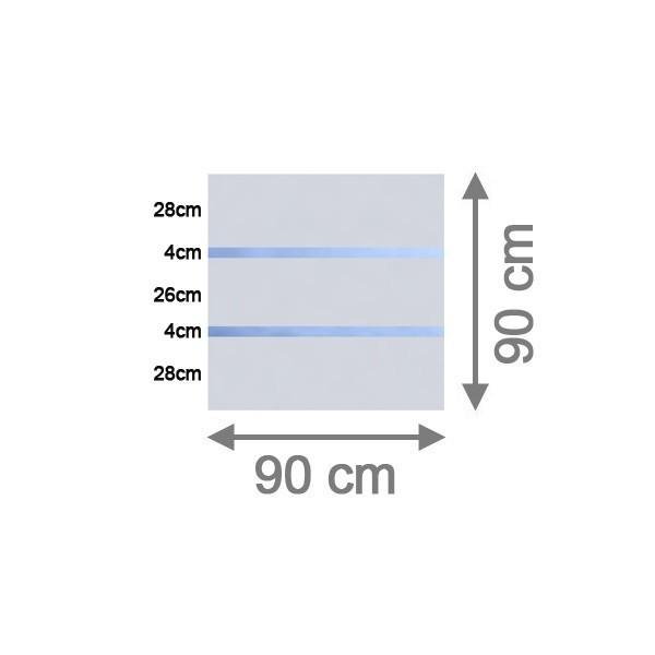 TraumGarten Sichtschutzzaun System Glas Alpha Rechteck - 90 x 90 x 0,8 cm