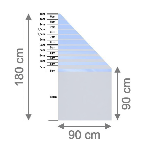 TraumGarten Sichtschutzzaun System Glas Beta Anschluß rechts - 90 x 180/90 x 0,8 cm