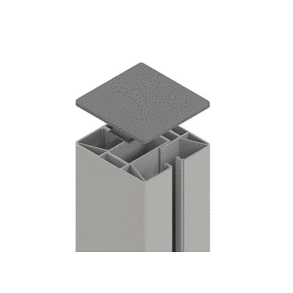 TraumGarten Zaunpfosten System Klemmpfosten Set silber - 8 x 8 x 105 cm