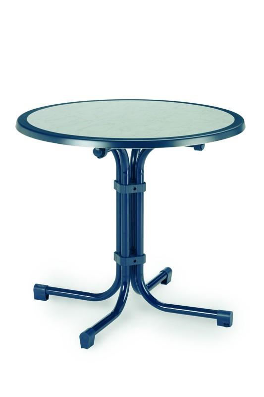 Best Tisch Boulevard rund 80cm Ø blau