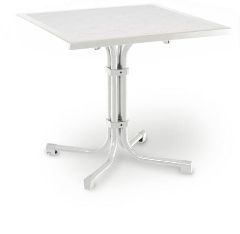 Best Tisch Boulevard Quadrat 80x80cm weiß