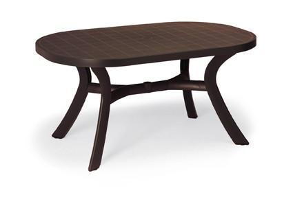 Best Tisch Kansas oval 145x95cm braun