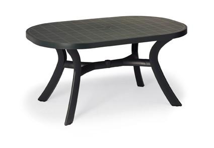 Best Tisch Kansas oval 145x95cm anthrazit