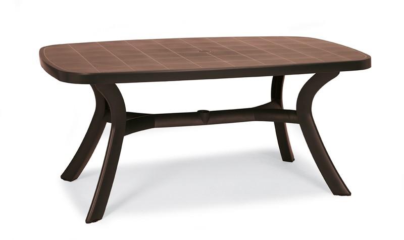 Best Tisch Kansas oval 192x105cm braun