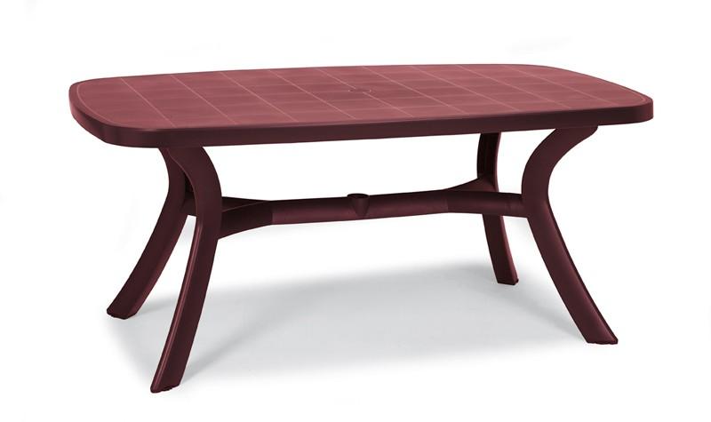 Best Tisch Kansas oval 192x105cm bordeaux