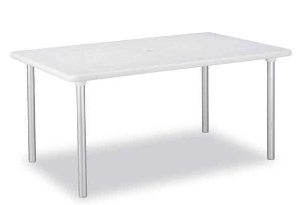 Best Ausziehtisch Tavolo160/220x100cm silber/weiß