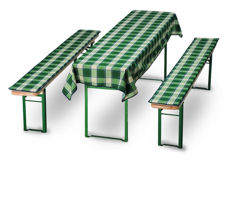Best Festbankauflagen-Set 2 Bänke + Tisch D.0467