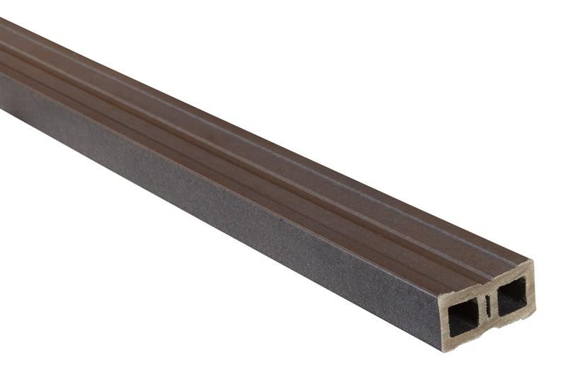 aMbooo Terrassendielen U-Lattung BPC Farbe grau - Maße: 2000x30x60