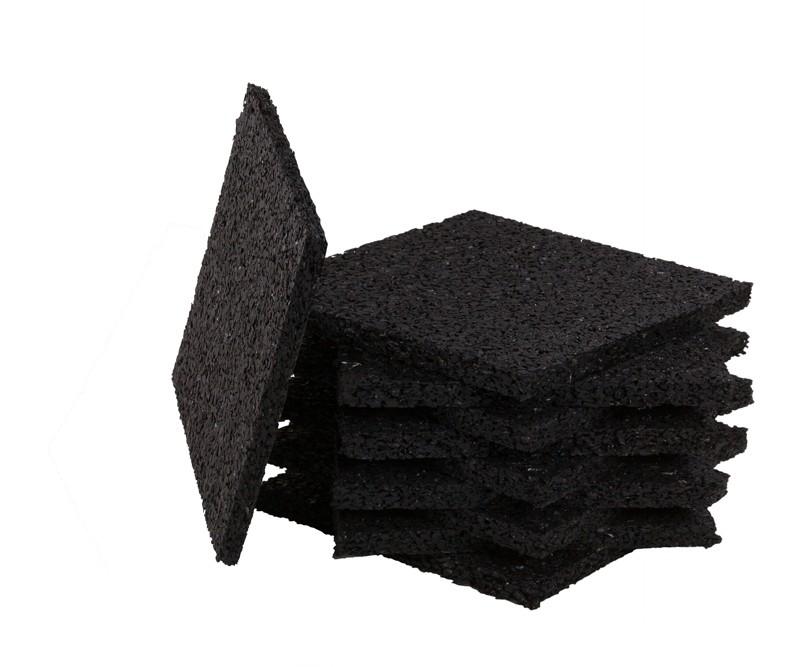 aMbooo Terrassendielen Unterkonstruktion 24er-Set Gummi Pad  Farbe schwarz