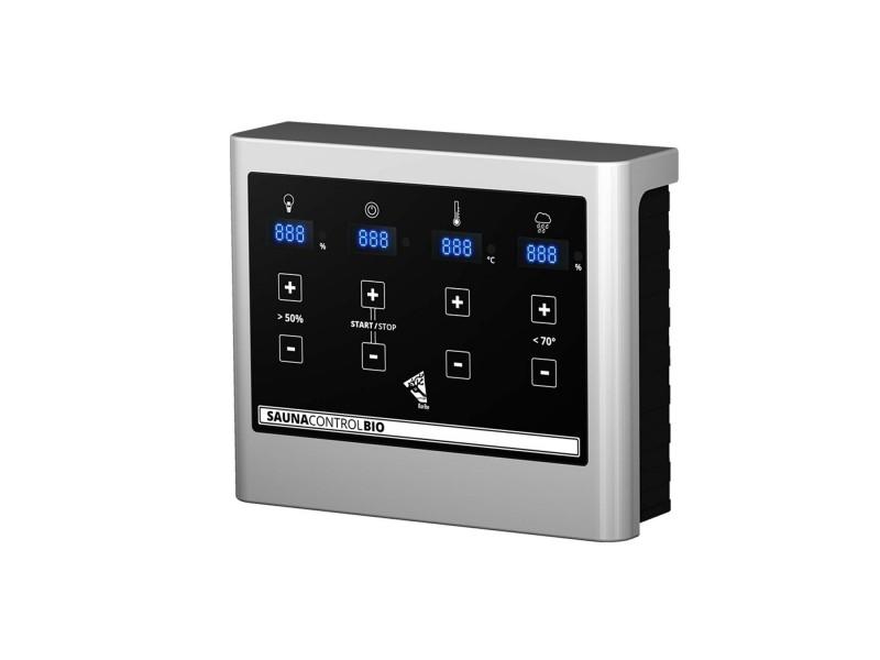 Karibu Bio-Kombiofen 9 kW inkl. Steuergerät Easy Bio + 18kg Diabas-Steinen