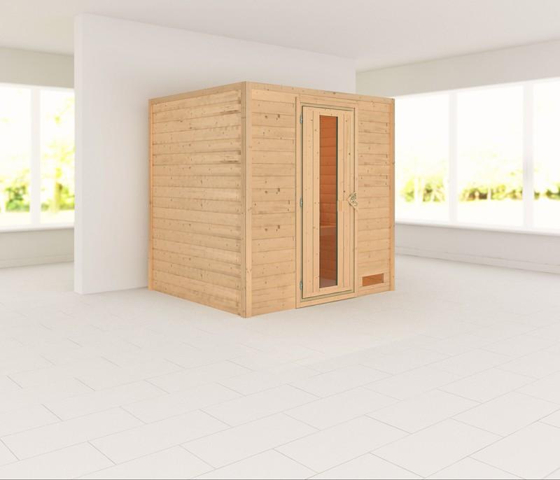 Woodfeeling 38 mm Massiv Sauna Anja Classic (Fronteinstieg)