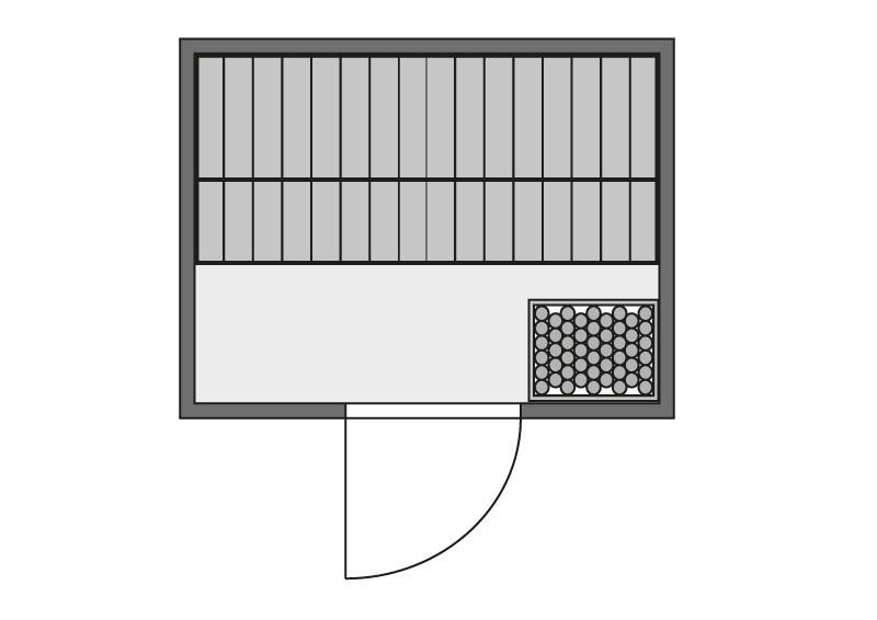 Woodfeeling 38 mm Massiv Sauna Anja Classic (Fronteinstieg) ohne Dachkranz mit klarglas Ganzglastür