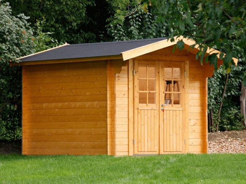 Wolff Finnhaus Holz-Gartenhaus Satteldachhaus Britta 34 mm C