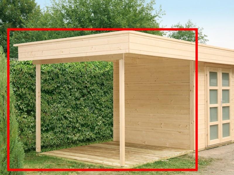 Wolff Finnhaus Seitenanbaudach für Holz-Gartenhaus Varianta