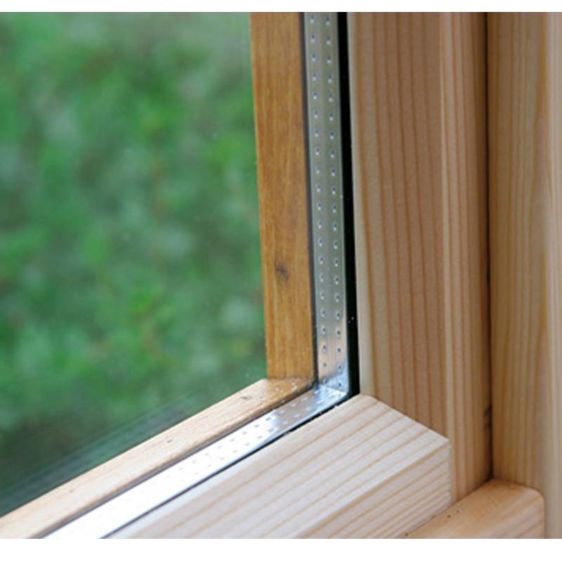 Wolff-Finnhaus Holz-Gartenhaus-Einzel-Fenster Helgoland Iso
