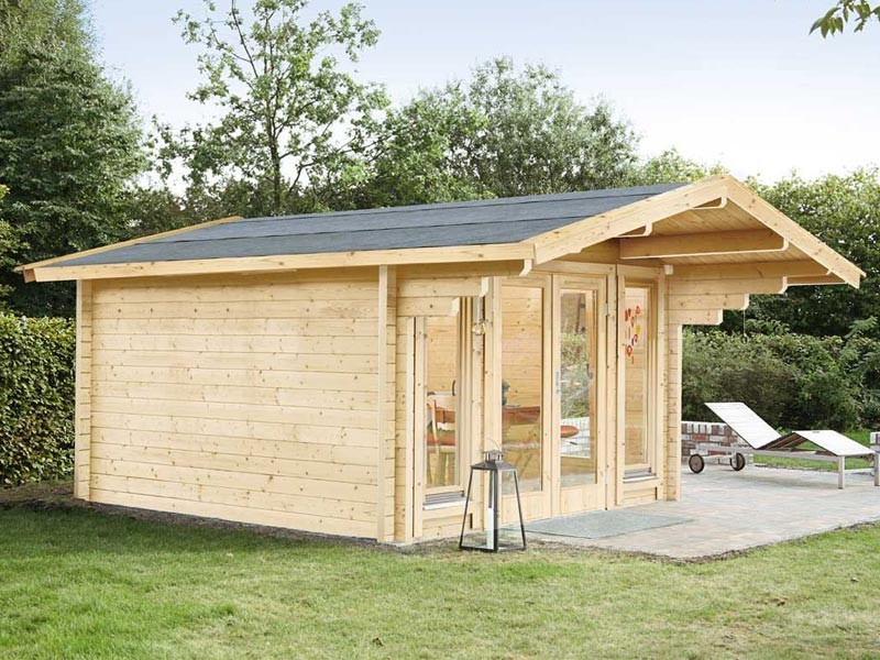 Wolff Finnhaus Holz-Gartenhaus Satteldach Hammerfest 70 mm A - 360 x 300 cm