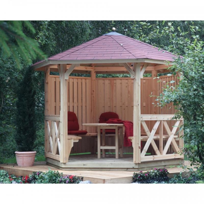Wolff Finnhaus GartenHolz Gartenpavillon aus Holz Kreta 6: Grundbauset