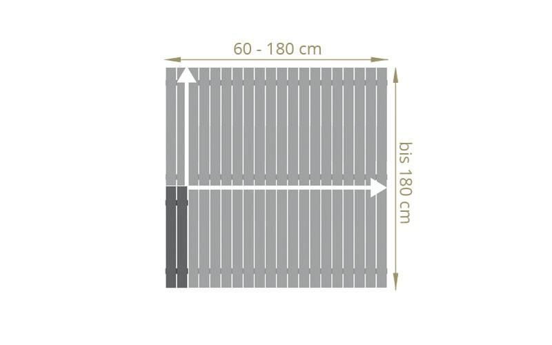 TraumGarten Sichtschutzzaun Aluminium Maßanfertigung Squadra Rechteck anthrazit