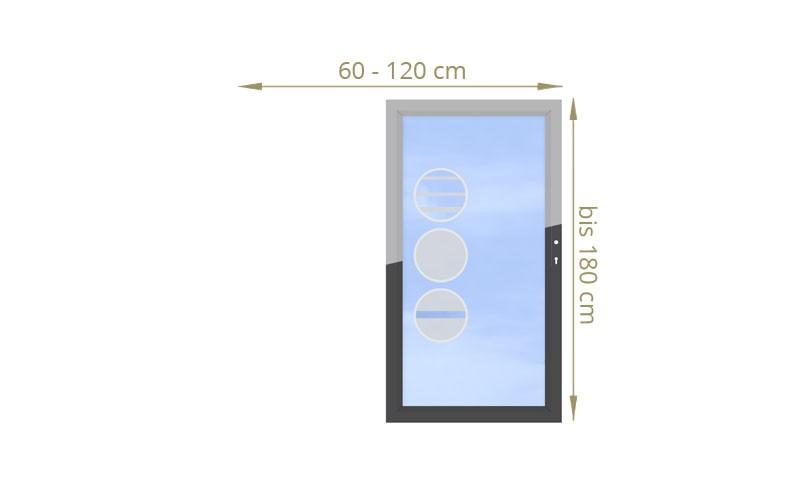 TraumGarten Einzeltor Maßanfertigung System Glas