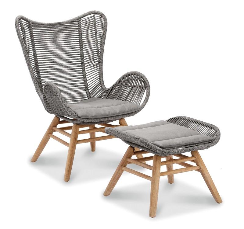 Best Sitzkissen-Set für Relax-Lounge-Sessel Asmara - Dessin 1820 - betongrau