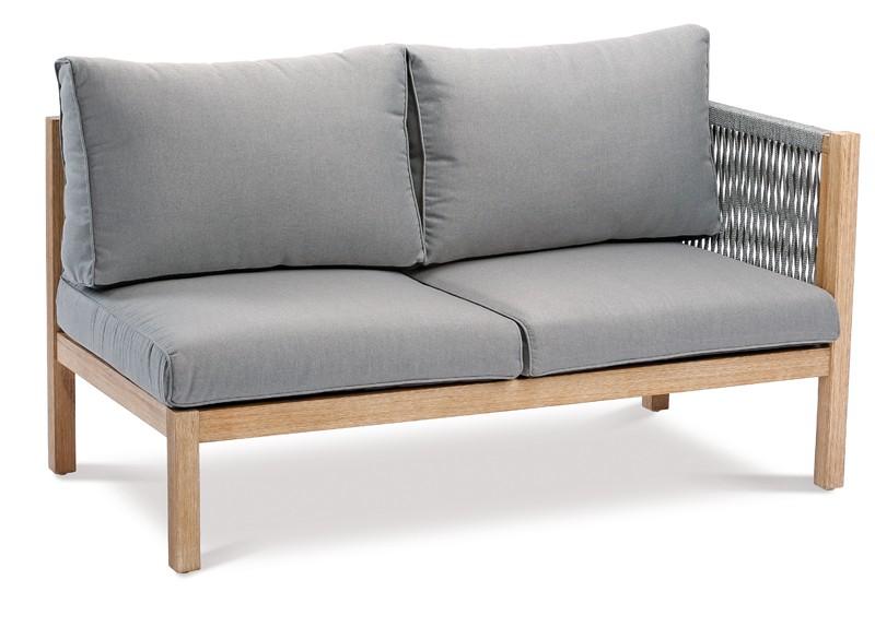 Best Loungeseitenteil rechts 2-Sitzer Madagaskar inkl. Auflagen - Eukaltyptus/Gurt
