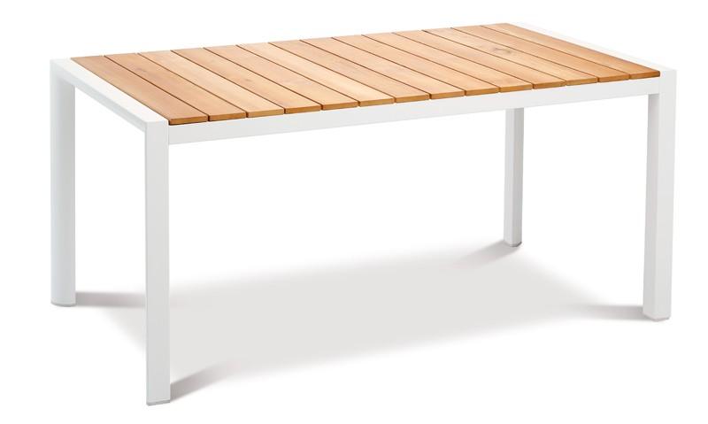 Best Paros Gartenmöbel-Set -  Aluminium/Ergotex/Teak in weiß/grau