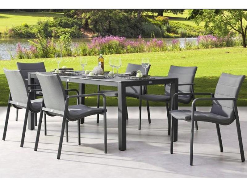 Best Gartenmöbel-Set Milos und LIvorno - Aluminium/Sensotex in anthrazit