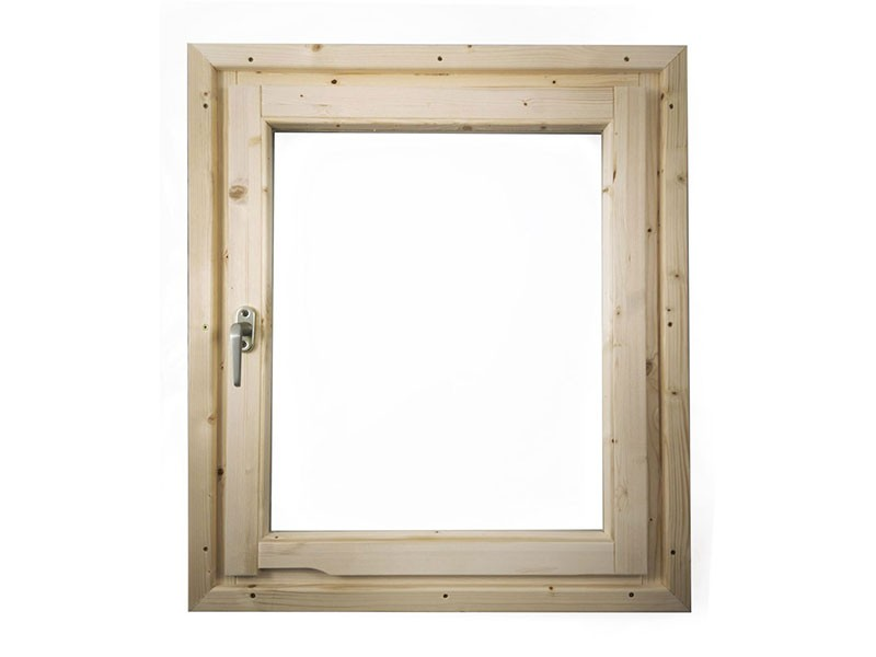 Karibu Holz Fenster für 38/40 mm Wandstärke - Dreh-/Kipptechnik - naturbelassen