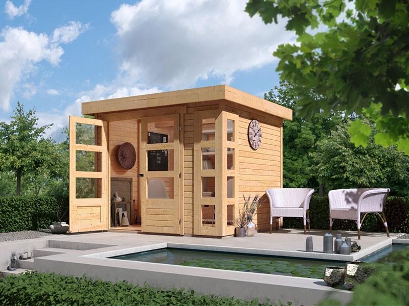 Woodfeeling Gartenhaus Kerko 3 - 19 mm Schraub-/Stecksystem - naturbelassen