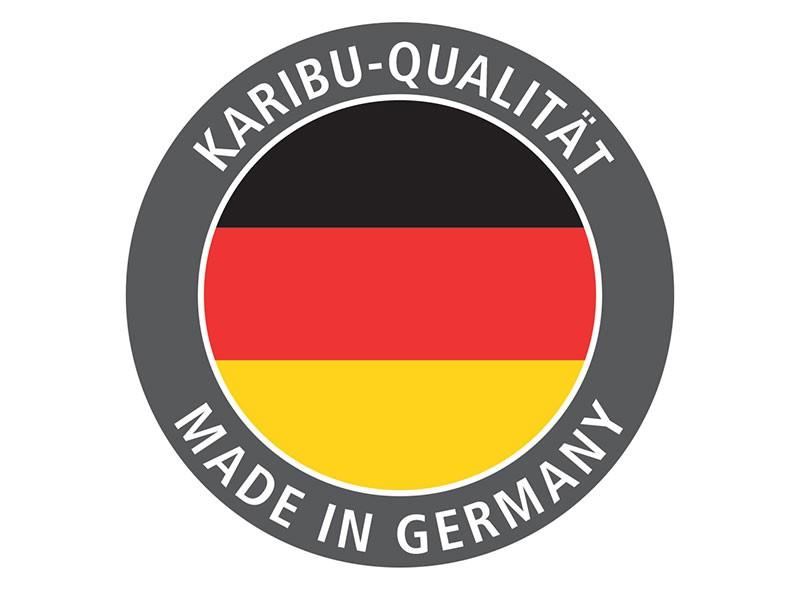 Woodfeeling Gartenhaus Retola 2 inkl. Anbauschrank + Anbaudach 2,4m - 19 mm Schraub-/Stecksystem - naturbelassen