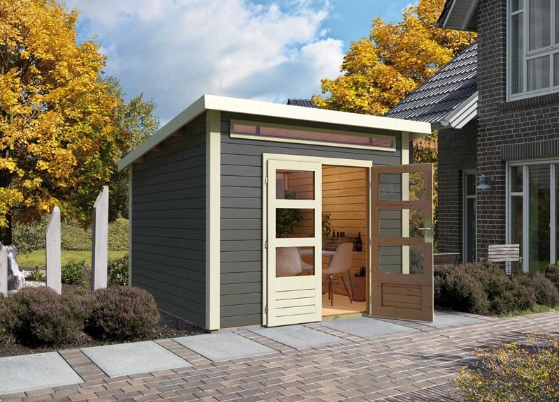 Woodfeeling Karibu Holz-Gartenhaus Kandern 3 in terragrau