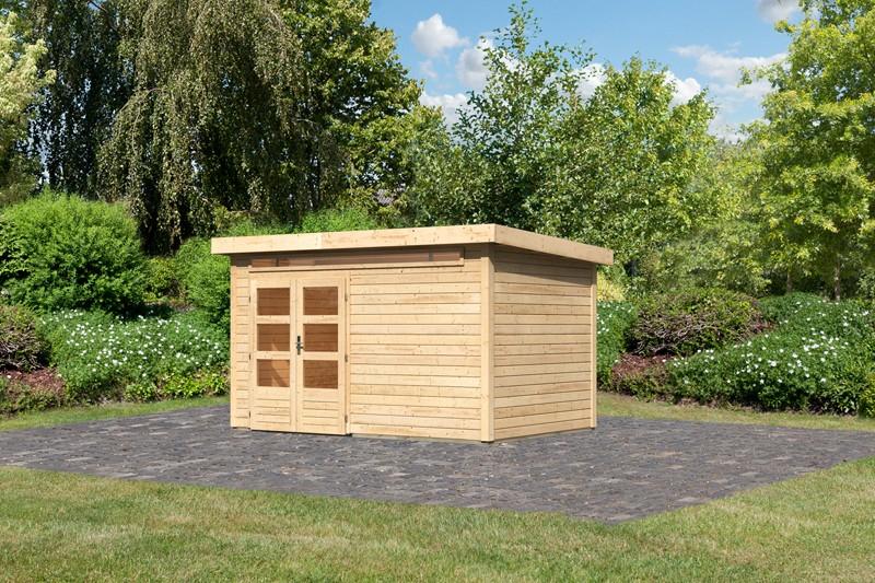 Woodfeeling Karibu Holz-Gartenhaus Kandern  7 in naturbelassen (unbehandelt)