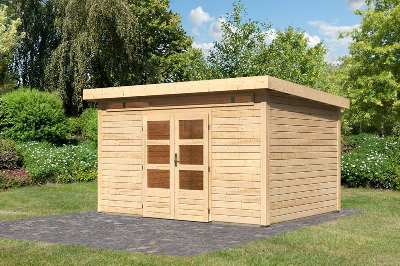 Woodfeeling Karibu Holz-Gartenhaus Kandern 9 in naturbelassen (unbehandelt)