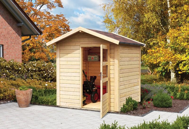 Woodfeeling Karibu Holz-Gartenhaus Talkau 2 in naturbelassen (unbehandelt)