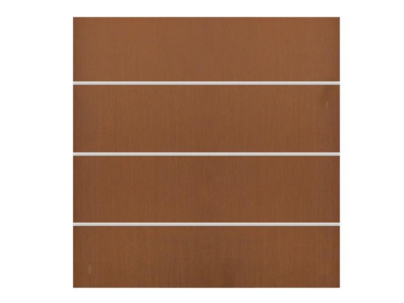 TraumGarten Sichtschutzzaun System Board XL Stahl Set Rechteck rost - 178 x 180 cm