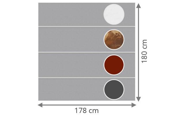 TraumGarten Sichtschutzzaun System Board XL Set Rechteck Individuell - 178 x 180 cm
