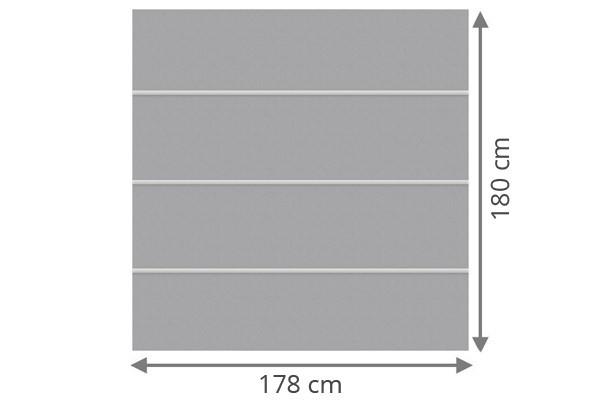 TraumGarten Sichtschutzzaun System Board XL Set Rechteck titangrau - 178 x 180 cm
