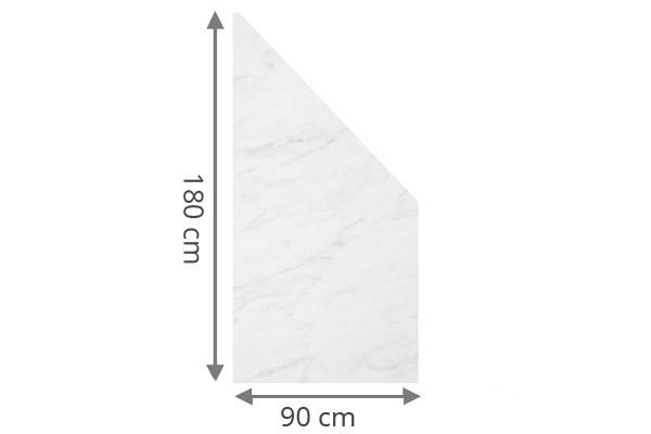 TraumGarten Sichtschutzzaun System Board Aluminium Anschluss marmor - 90 x 180/90 x 0,6 cm