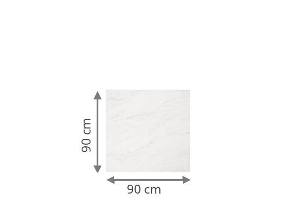 TraumGarten Sichtschutzzaun System Board Aluminium Rechteck marmor - 90 x 90 x 0,6 cm