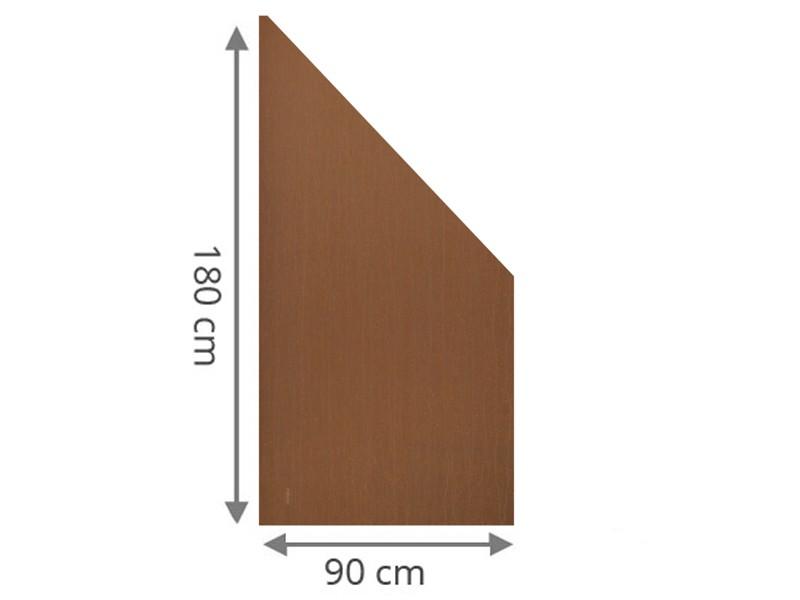 TraumGarten Sichtschutzzaun System Board Stahl Rechteck rost - 90 x 180/90 x 0,6 cm