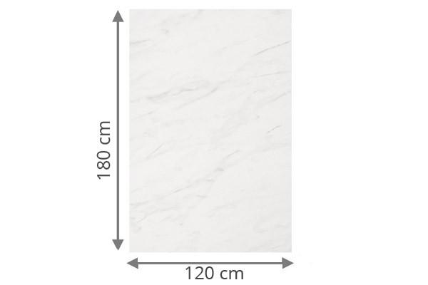 TraumGarten Sichtschutzzaun System Board Aluminium Rechteck marmor - 120 x 180 x 0,6 cm