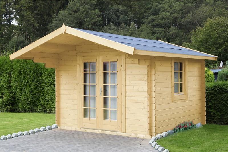 Wolff Finnhaus Holz-Gartenhaus Satteldachhaus Bergen 28 mm B