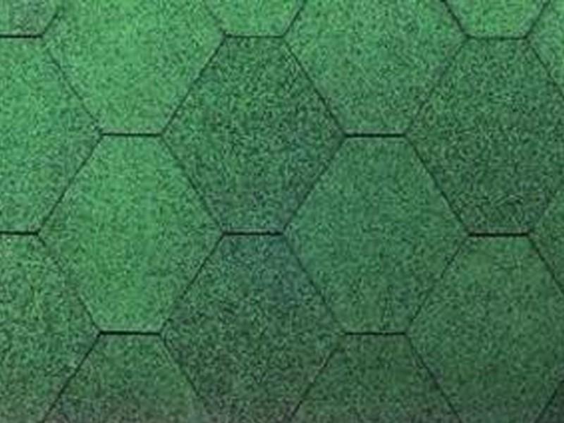 Wolff Finnhaus Holz-Gartenhaus Dachschindeln -  6-Eck de luxe grün