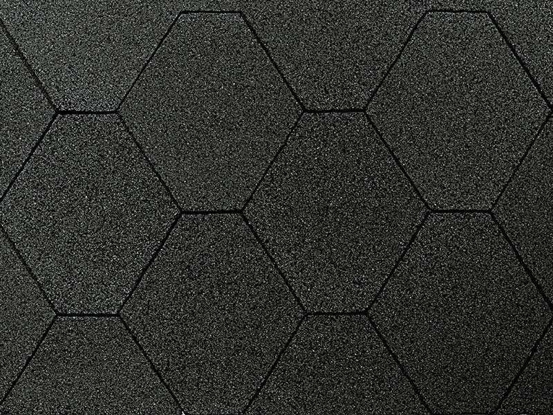 Wolff Finnhaus Holz-Gartenhaus Dachschindeln -  6-Eck de luxe schwarz