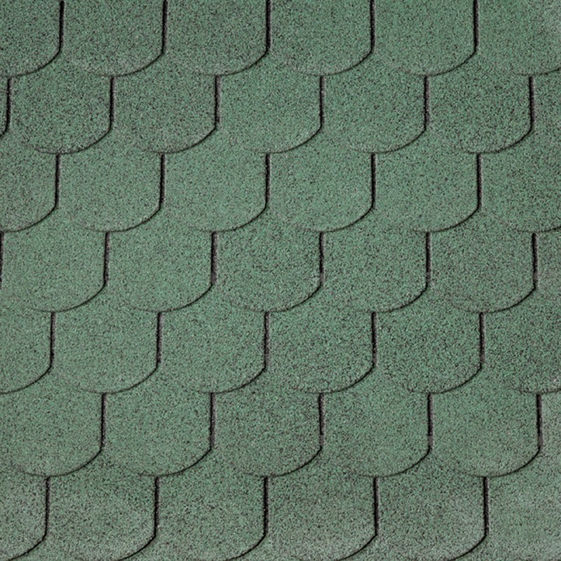 Wolff Finnhaus Holz-Gartenhaus Dachschindeln -  Biberschwanz grün