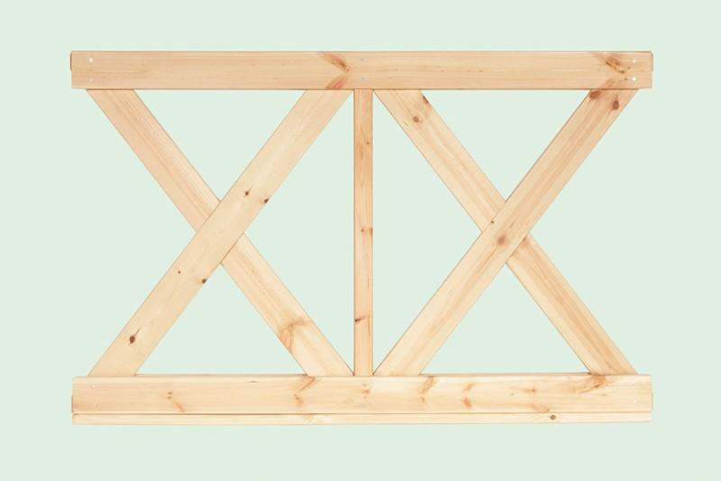 Wolff Finnhaus GartenHolz Gartenpavillon aus Holz Kreta 6: Wandelement X klein