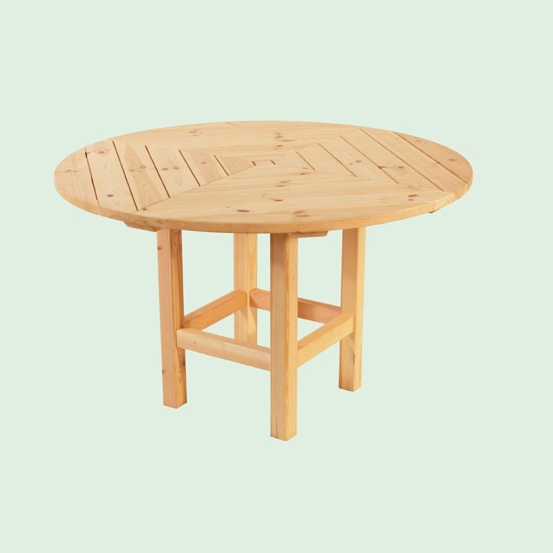 Wolff Finnhaus GartenHolz Gartenpavillon aus Holz Kreta 6+8 : Runder Tisch Ø170